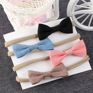 Other - 4 color baby headband bow set